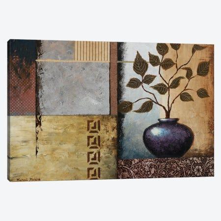 Plum Vase 3-Piece Canvas #MMC115} by Michael Marcon Canvas Art Print