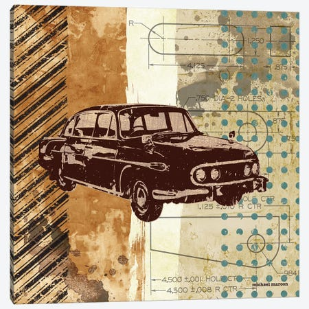 Retro Ride I Canvas Print #MMC120} by Michael Marcon Canvas Art Print