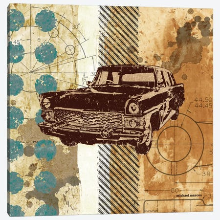Retro Ride II 3-Piece Canvas #MMC121} by Michael Marcon Canvas Art Print