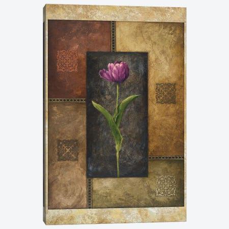 Violet Tulip Canvas Print #MMC156} by Michael Marcon Canvas Print