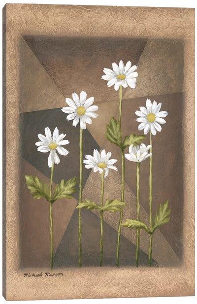 White Daisies Canvas Art Print
