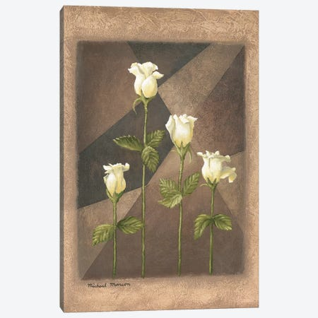 Yellow Roses Canvas Print #MMC165} by Michael Marcon Canvas Artwork