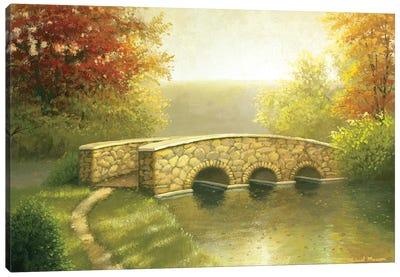 Autumn Bridge I Canvas Art Print