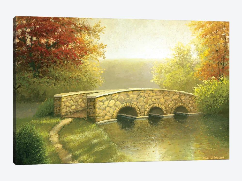 Autumn Bridge I by Michael Marcon 1-piece Canvas Artwork