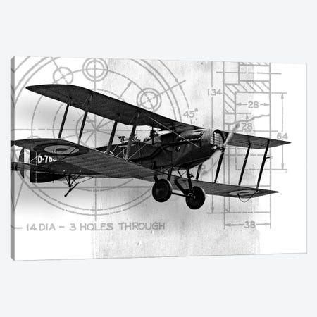 Flight Plans I Canvas Print #MMC53} by Michael Marcon Canvas Art Print