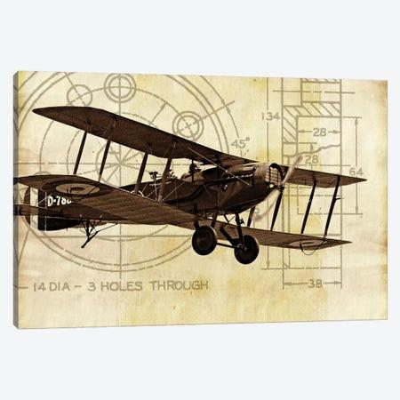 Flight Plans I Canvas Print #MMC54} by Michael Marcon Canvas Wall Art