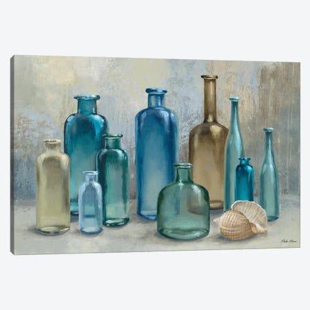 Glass Bottles Canvas Print #MMC65} by Michael Marcon Canvas Art Print