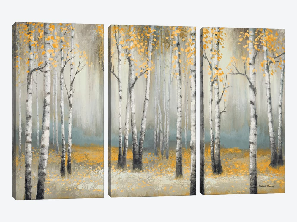 Golden September Birch by Michael Marcon 3-piece Art Print