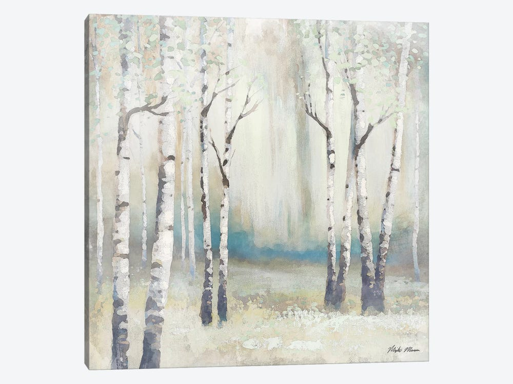 Watercolor December Birch I by Michael Marcon 1-piece Canvas Wall Art