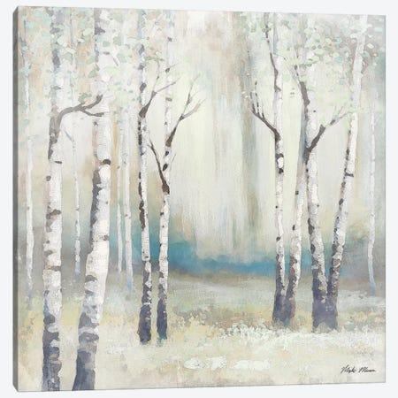 Watercolor December Birch I Canvas Print #MMC8} by Michael Marcon Canvas Wall Art