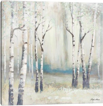 Watercolor December Birch I Canvas Art Print