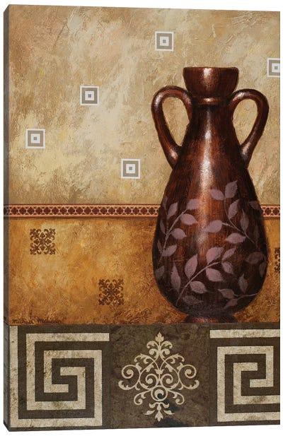 Mahogany Urn II Canvas Art Print