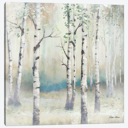 Watercolor December Birch II Canvas Print #MMC9} by Michael Marcon Canvas Artwork
