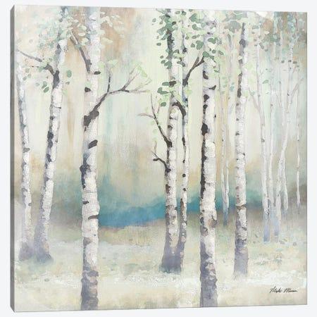 Watercolor December Birch II Canvas Print #MMC9} by Michael Marcon Canvas Artwork