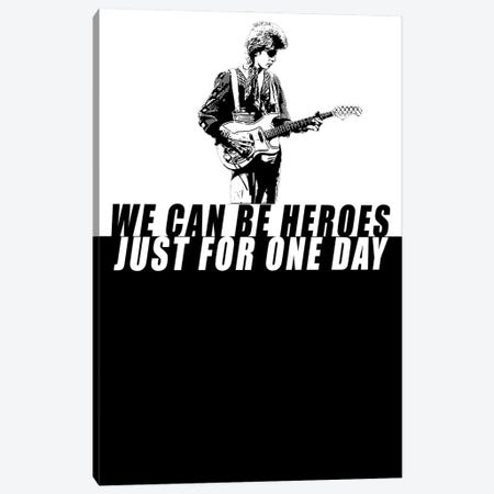 David Bowie - Heroes Canvas Print #MMD16} by JMA Media Canvas Print