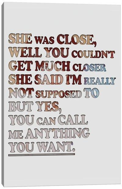 Arctic Monkeys - Cornerstone Canvas Art Print