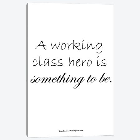John Lennon - Working Class Hero Canvas Print #MMD29} by JMA Media Canvas Art Print