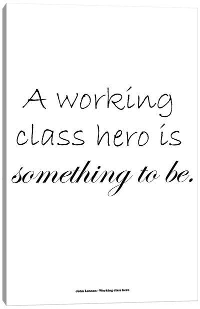 John Lennon - Working Class Hero Canvas Art Print
