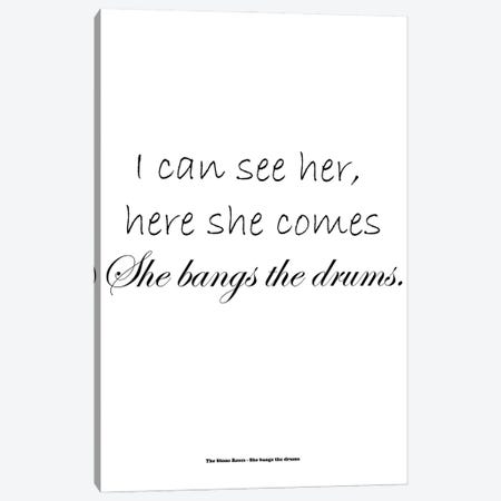 The Stone Roses - She Bangs The Drums Canvas Print #MMD57} by JMA Media Canvas Print