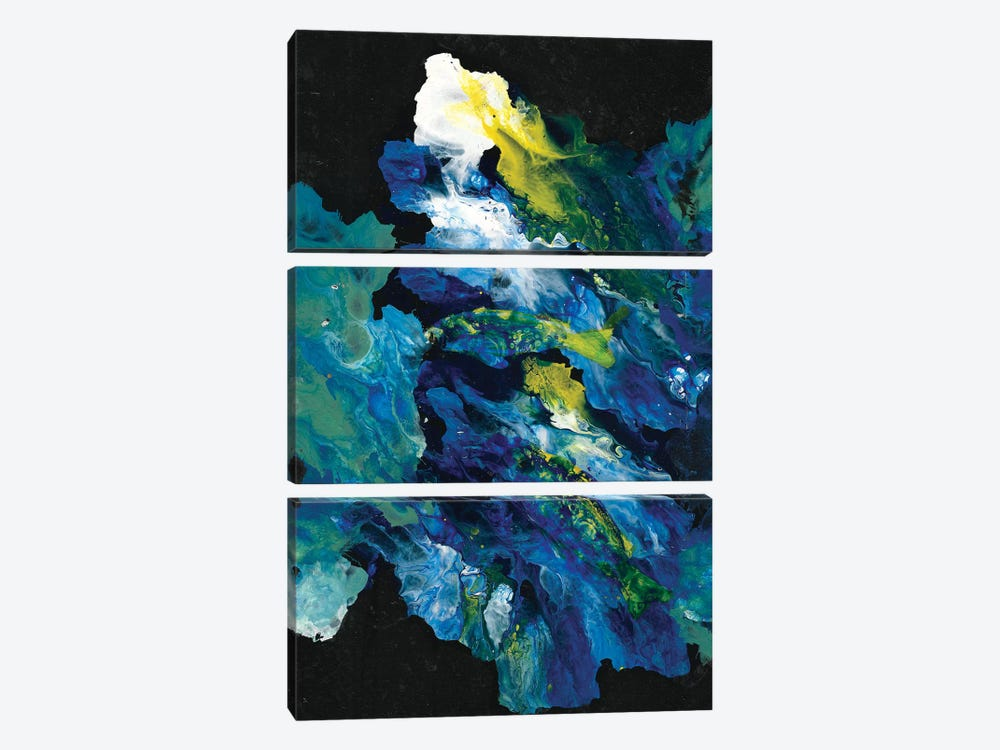 Movement In The Dark by Michelle Angella Meijs 3-piece Canvas Wall Art