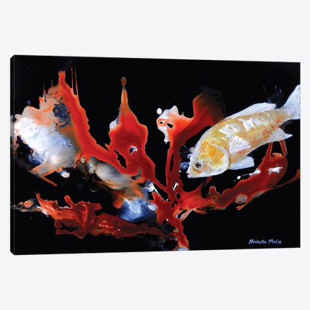 Anthias Basslet Fish Canvas Print #MME21} by Michelle Angella Meijs Canvas Artwork