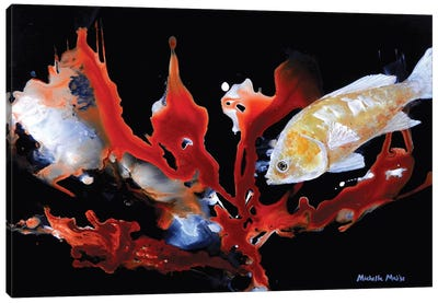 Anthias Basslet Fish Canvas Art Print