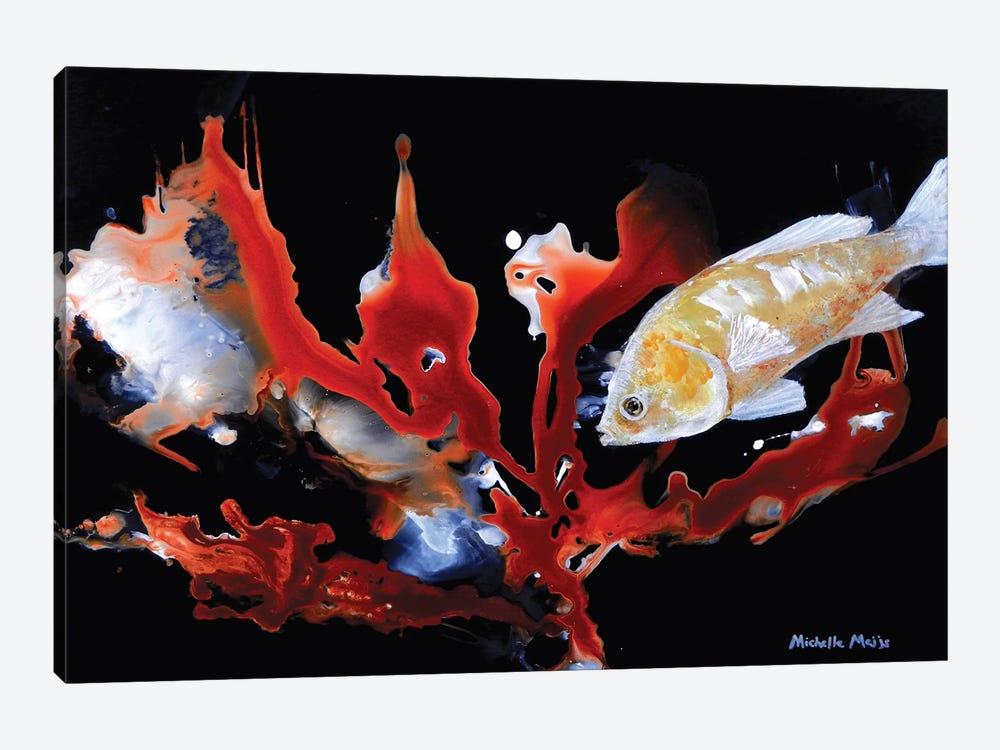 Anthias Basslet Fish by Michelle Angella Meijs 1-piece Canvas Art Print