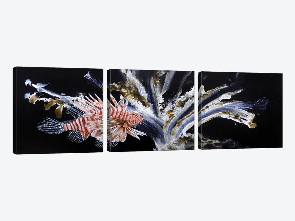 The Lionfish by Michelle Angella Meijs 3-piece Canvas Artwork