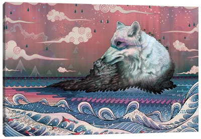 Lone Wolf Canvas Art Print