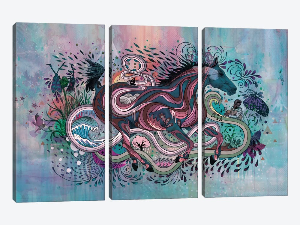 Poetry In Motion 3-piece Canvas Artwork