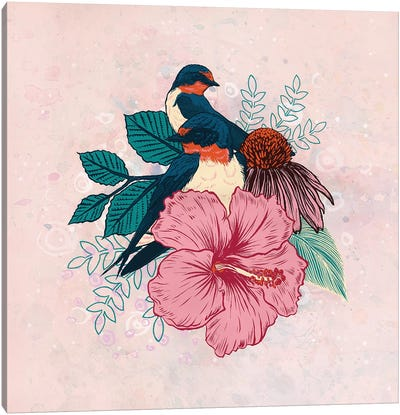 Barn Swallows Canvas Art Print