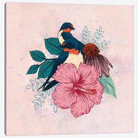 Barn Swallows Canvas Print #MMI29} by Mat Miller Canvas Wall Art