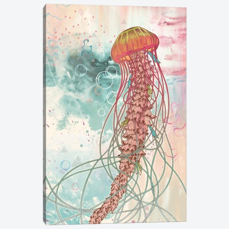 Jellyfish Canvas Print #MMI33} by Mat Miller Art Print