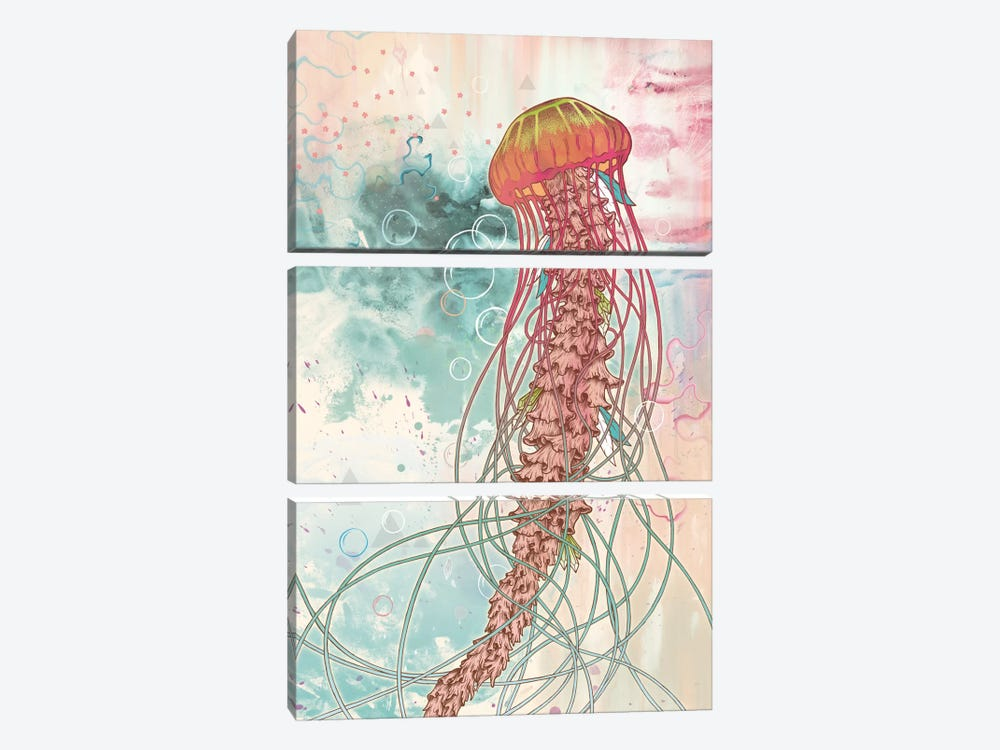 Jellyfish 3-piece Canvas Art