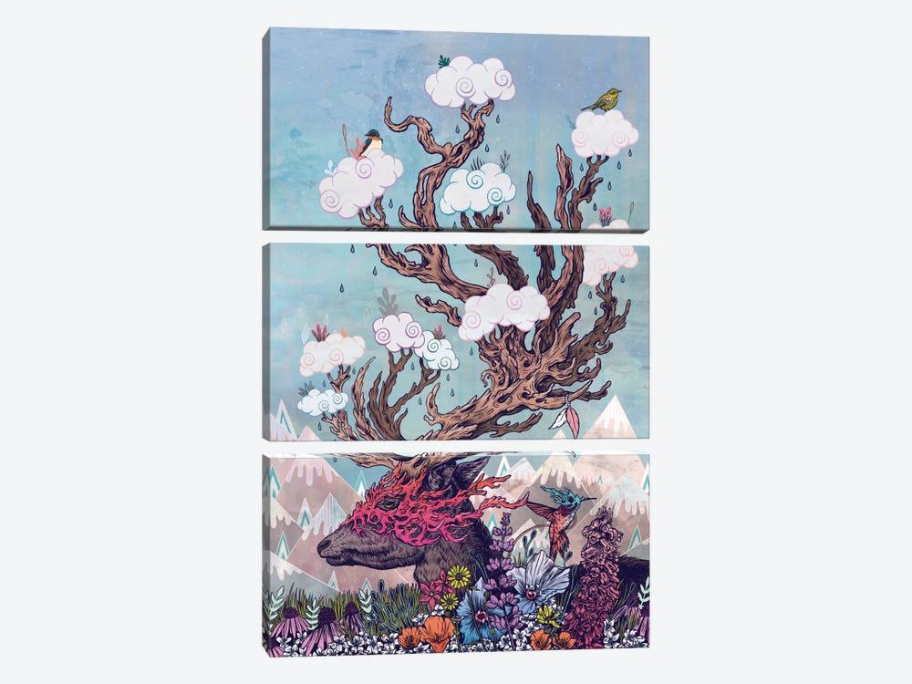 Journeying Spirit (Deer) by Mat Miller 3-piece Canvas Print