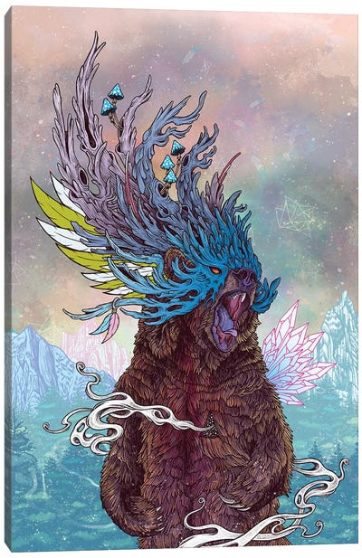 Journeying Spirit (Bear) Canvas Art Print