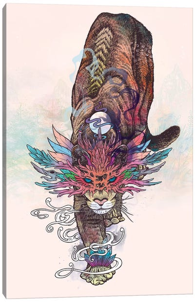 Journeying Spirit (Mountain Lion) Canvas Art Print