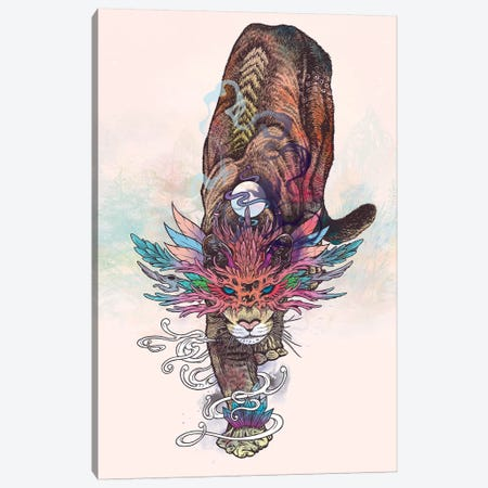 Journeying Spirit (Mountain Lion) Canvas Print #MMI39} by Mat Miller Art Print
