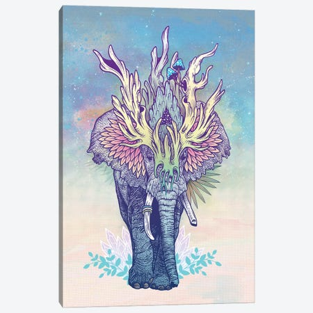 Spirit Elephant Canvas Print #MMI43} by Mat Miller Canvas Wall Art
