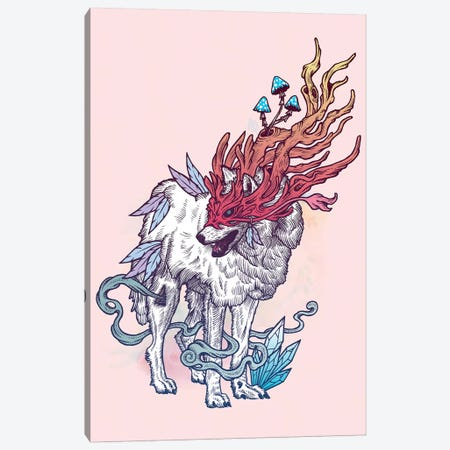 Spirit Wolf Canvas Print #MMI44} by Mat Miller Canvas Art Print