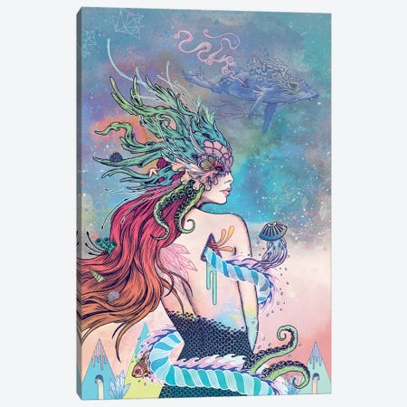 The Last Mermaid Canvas Print #MMI45} by Mat Miller Art Print