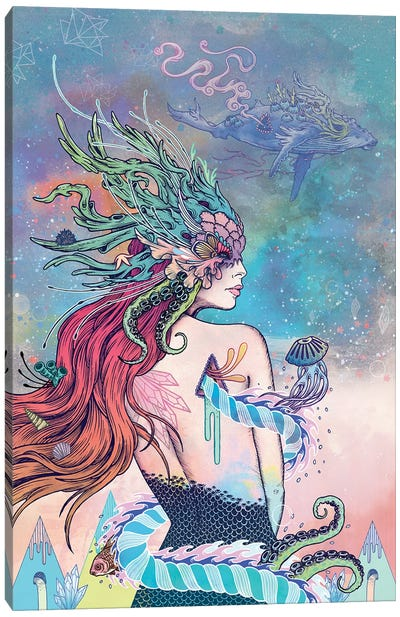 The Last Mermaid Canvas Art Print