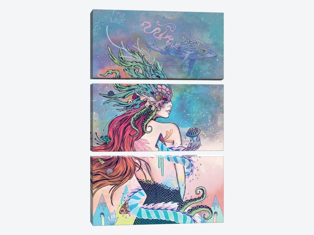 The Last Mermaid by Mat Miller 3-piece Art Print
