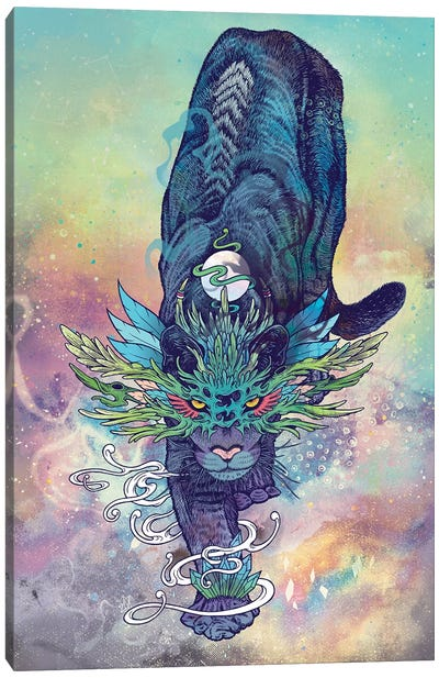 Spectral Cat Canvas Art Print