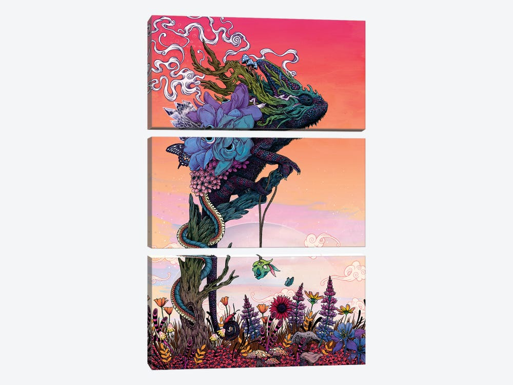 Phantasmagoria I by Mat Miller 3-piece Canvas Art
