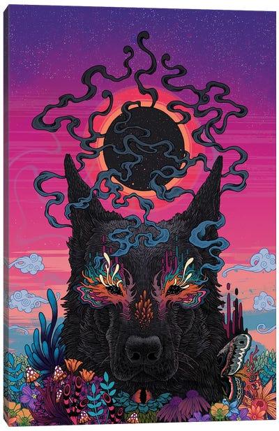 Black Eyed Dog Canvas Art Print