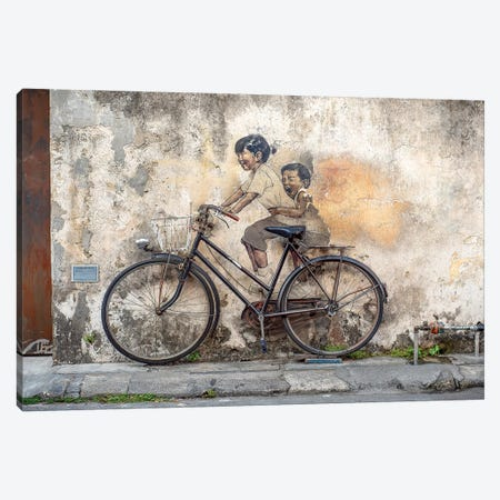 Bike Ride Canvas Print #MMJ10} by Mark MacLaren Johnson Canvas Artwork