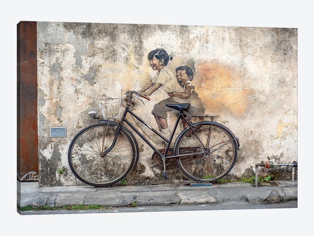 Bike Ride by Mark MacLaren Johnson 1-piece Canvas Art Print