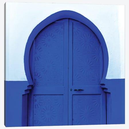Blue White Door Canvas Print #MMJ26} by Mark MacLaren Johnson Canvas Artwork