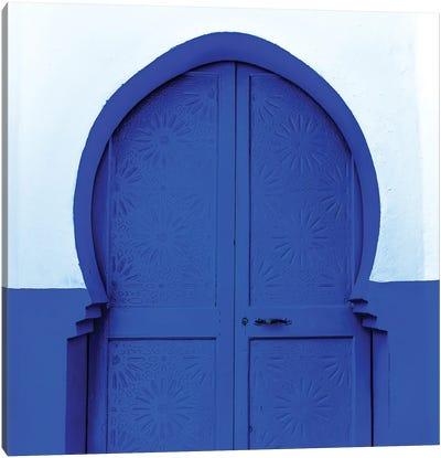 Blue White Door Canvas Art Print